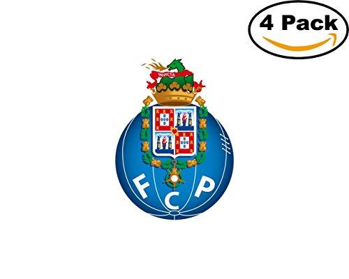 fan products of Soccer FC Porto Logo 4 Stickers 4X4 Inches Car Bumper Window Sticker Decal