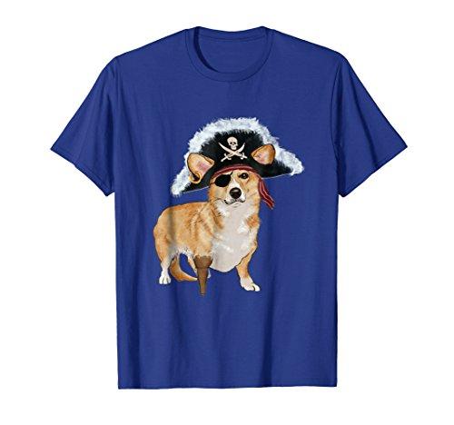 Mens Funny Corgi Pirate Halloween Dog Lovers Costume T Shirts Small Royal (Cute Pirate Costume Ideas)