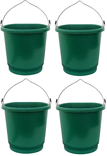 Farm Innovators FB-120 5 Gallon 120W Heated Flat Back Bucket - Quantity 4 (Bucket Flat Heated)