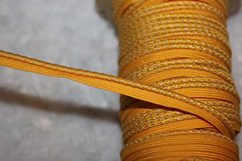Fashion Fabric - 5 Yards Yellow Gold Lip Cord Piping Reflective Upholstery Trim 1/8 3/8 Wide - Complete Your Projects with Beautiful Trims ()