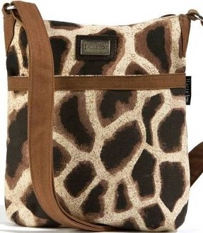 Halle Joy Giraffe Print Mini Handbag 10.5 by 9.5 inches Noah Collection 100114 For Sale