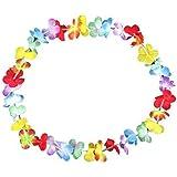 Collana Hawaii a fiori colorati, confezione da 30 (0276)