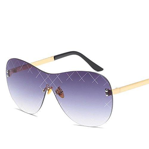 Unidos gafas del F siamés damas de gafas sin color y sol gafas Aoligei los Moda metal marco de hombres tendencia sol de Estados de sol Europa YqxS7a