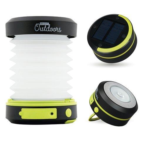 Solarlaterne / Taschenlampe mit Notfall. Akku, LED, USB wiederaufladbar und zusammenklappbar. Vielseitiges Camping, Sicherheit, Veranda oder Reiselampe. Tragbar und innovatorisch sonnenangetrieben Licht