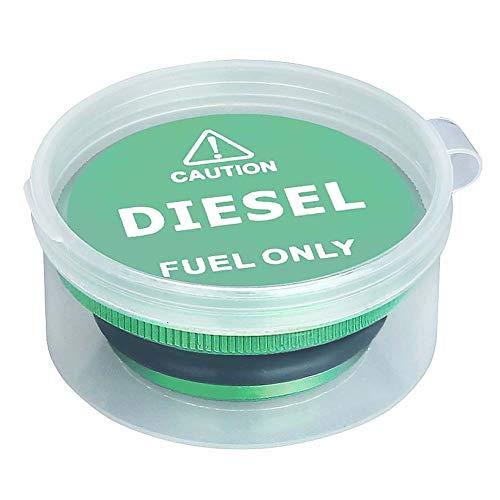 (Magnetic Dodge Ram Diesel Billet Aluminum Fuel Cap for Dodge 2013-2017 with Cummins 3.0L V6 Engines)