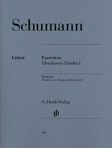 Exercices - Etüden in Form freier Variationen über ein Thema von Beethoven (Erstausgabe)