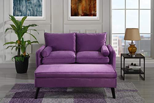Upholstered Velvet Loveseat 59
