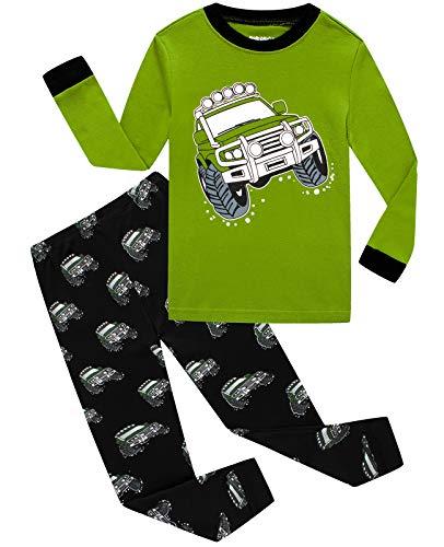 Dolphin&Fish Boys Pajamas 100% Cotton Long Sleeve Toddler Pjs Set Car Clothes Kids Pjs Sleepwear Size 5