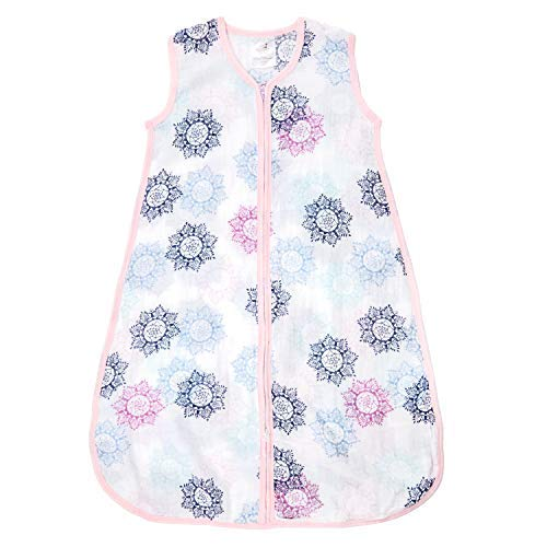 aden by aden + Anais Classic Sleeping Bag, 100% Cotton Muslin, Wearable Baby Blanket, Large, 12-18 Months, Pretty Pink