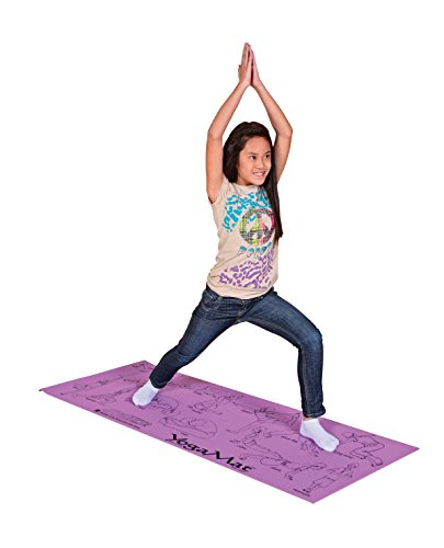 Sportime Illustrated Youth Yoga Mat with Pose Images - 24 x 68 x 1/8 inches