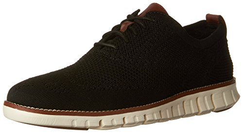 Cole Haan Men's Zerogrand Stitchlite Wingtip Oxford, Black/Ivory, 11 Medium US