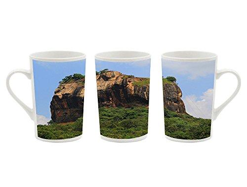 1Pcsx Ceramic Mug Coffee Cup - Sigiriya Rocky Plateau Sri Lanka - Picture Printing White Ceramic Coffee Milk Cup Porcelain Mugs 13.5 oz