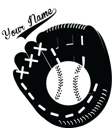 - Chic Walls Removable Baseball Glove Baseball Custom Personalized Name Wall Art Décor Decal Vinyl Sticker Mural Nursery Boys Kids Room Black 23