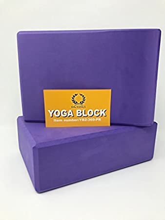 Pair of Yoga Blocks High Density EVA Foam Exercise Blocks to Provide Balance, Stability, Deepen Pose and Improve Strength. 2 Pack