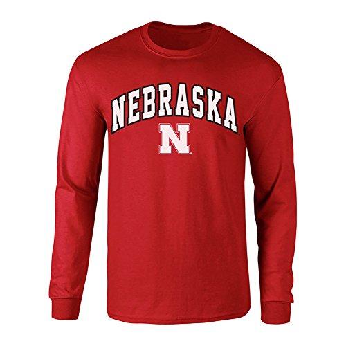 Elite Fan Shop Nebraska Cornhuskers Long Sleeve Tshirt Arch Red - L ()