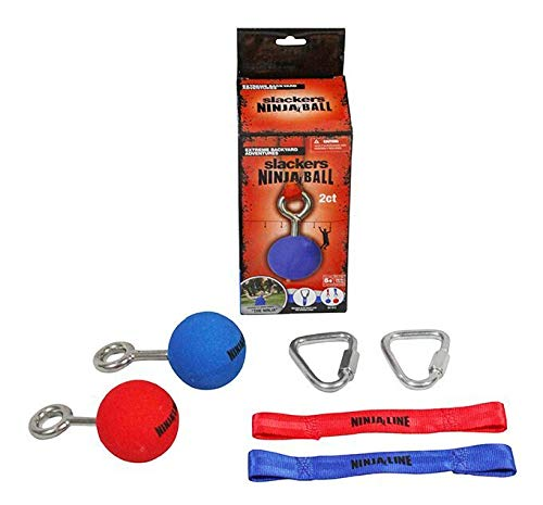 b4Adventure NinjaLine Ninja Cone with Hardware (2 Piece), Red/Blue, - Hardware Cone