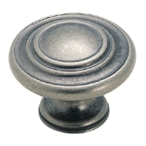 Sonoma Cabinet Hardware Nantucket Knob Antique Pewter 20 Knob Pack NEW  Kitchen Custom Solid Knob Knobs - Antique Pewter Cabinet Hardware: Amazon.com