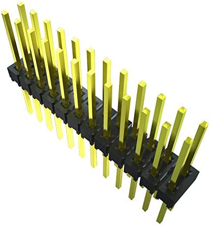 Through Hole Board-To-Board Connector 64 Contacts 2.54 mm 2 Rows, MTSW-132-11-S-Q-740 MTSW Series Pack of 5 Header
