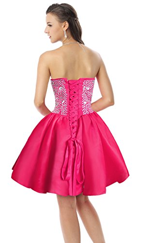 Dance fuchsia Homecoming Dresses Women's Cocktail Prom Charmian Party Organza Short Gorgeous 1AvqX
