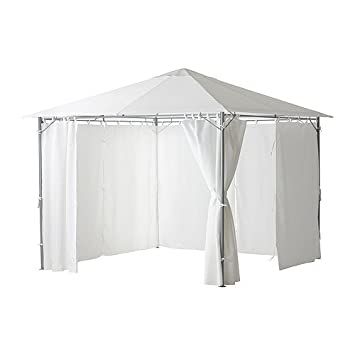Curtains Ideas 300 cm length curtains : Gazebo with Curtains Water Repellent UV Protection Fabric on Solid ...