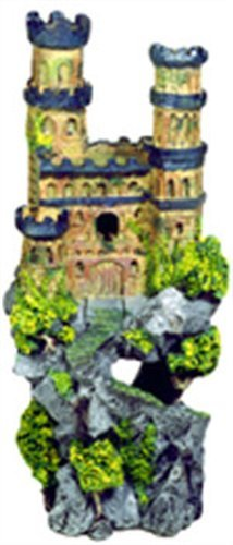Exotic Environments Medieval Castle Aquarium Ornament, Tall, 5-Inch by 4-1/2-Inch by 12-Inch