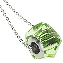 Dreambell Becharmed Helix Swarovski Elements Crystal Pendant 925 Sterling Silver Adjustable Necklace 18''