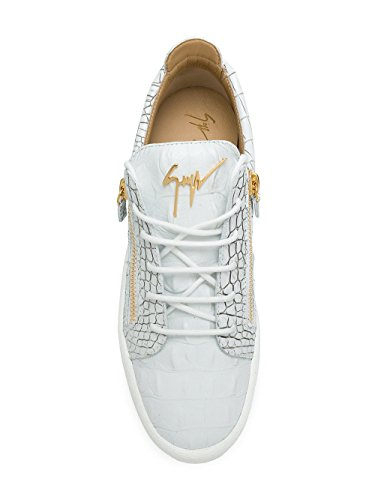 Giuseppe Zanotti Design Uomo Sneakers In Pelle Bianca Ru70000049