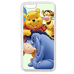 """Customized White Soft Rubber(TPU) Disney Winnie the Pooh Eeyore iPhone 6 Plus Case, Only fit iPhone 6+ 5.5"""""""