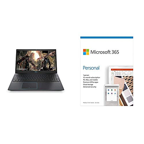 Dell G3 3500 Gaming 15.6-inch Laptop (10th Gen Core i5-10300H/8GB/1TB + 256GB SSD/Win 10/4GB NVIDIA1650 Ti Graphics), Eclipse Black+Microsoft 365 Personal-One Year Subscription Included