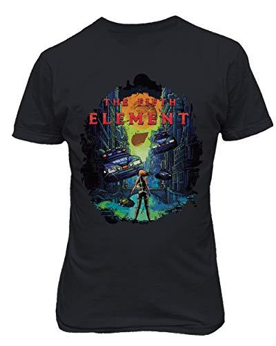 RIVEBELLA New Graphic Shirt Vintage Novelty Tee Element Men's T-Shirt (Black, 4XL) -