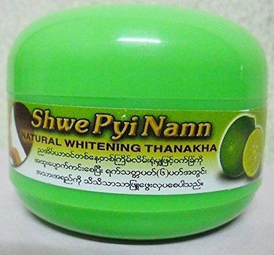 Shwe Pyi Nann Natural Whitening Thanakha 100% Myanma 50gram Skin Treatment