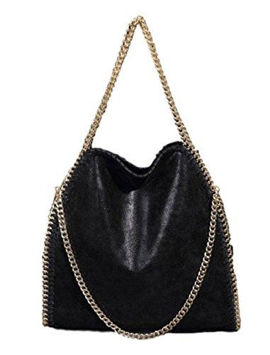 Inspired Black Purse (D'autres hauteurs Women Chain Paillette Large Casual Tote Shoulder Bag)