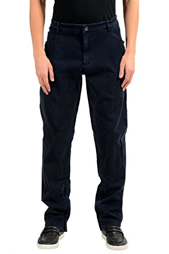 Dolce & Gabbana Men's Blue Distressed Straight Leg Jeans US 40 IT 56 - Dolce & Gabbana Straight Leg Jeans