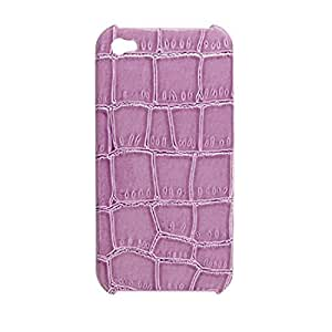 Water & Wood Purple Textured Hard Plastic Back Case for iPhone 4 4G