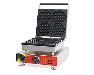 110V/220V Round Muffin Machine Waffle Maker Oven Grid Pancakes Cooker 4 Pieces (220V AU/EU PLUG)