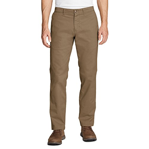Eddie Bauer Men's Flex Legend Wash Chino Pants - Slim Fit, Saddle Regular 36/36 - Mens Blended Chino