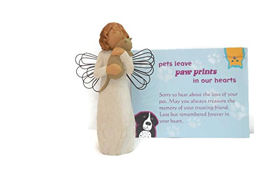 - Willow Tree With Affection Angel Figurine - Best Pet Memorials, Loss of Cat Sympathy Gifts