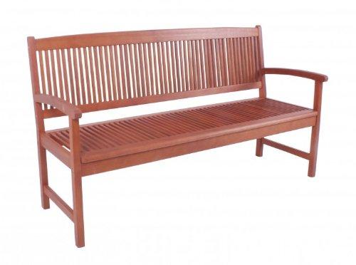 Gartenbank 3-Sitzer aus Eukalyptus FSC-Holz, geölt