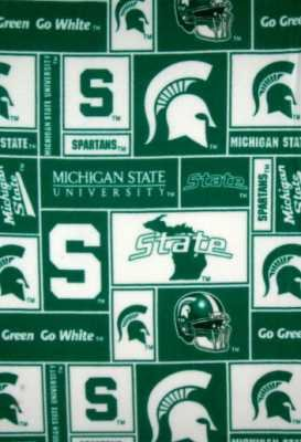 Michigan State University by Sykel - FLEECE - Bearpaw Quilt