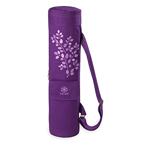 Gaiam Cargo Yoga Mat Bag, Violet Spring