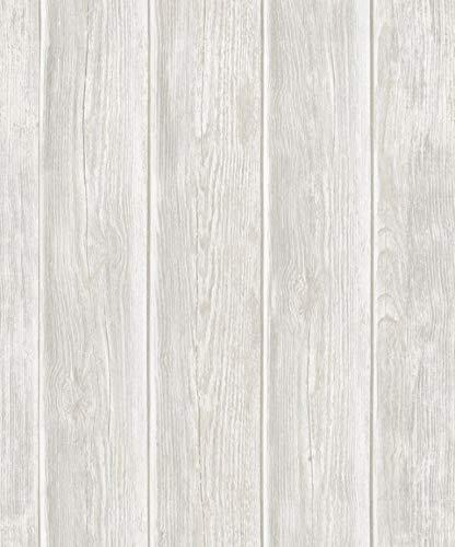 Grace & Gardenia G05C8402 White Vertical Shiplap Wallpaper