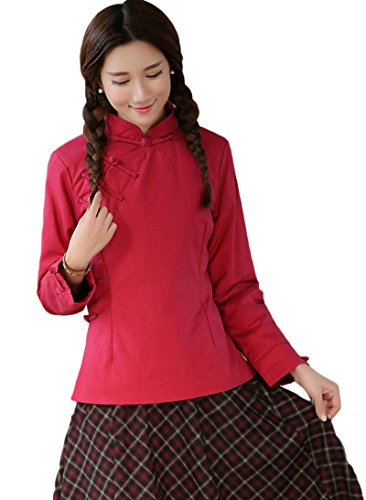 avacostume-female-chinese-qipao-winter-cotton-padded-jacket-l-red