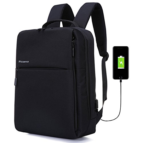 Dfavors Laptop Backpack, Business Travel Computer Bag with USB Charging Port Durable Waterproof College School Bag for Women & Men Fits 15inch Laptop & Notebook