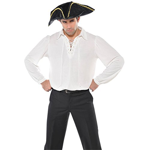 Gypsy Costumes Men (White Pirate Shirt Costume - Standard - Chest Size 42)