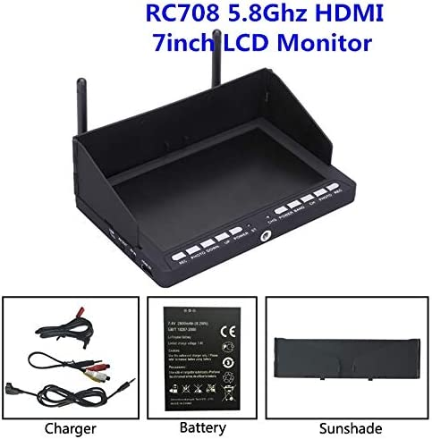 Hockus Accessories Skysight RC708 5.8G 40CH Diversity Rx 7 Inch Monitor HDMI Input DVR Ppm Support Fatshark ImmersionRC
