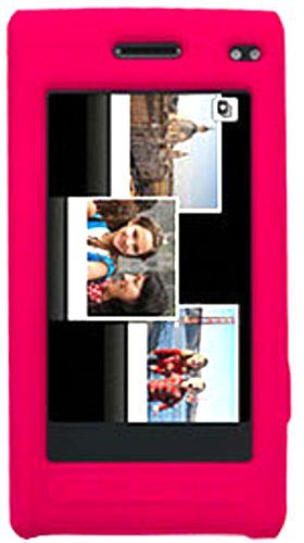 Amzer Silicone Skin Jelly Case for Samsung Memoir T929 - Hot Pink ()