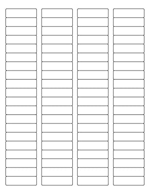 """(6 SHEETS) 480 1/2""""x1-3/4"""" BLANK WHITE STICKERS, Matte Finish, FOR INKJET & LASER PRINTERS ~ SIZE: 8-1/2""""X11"""" STANDARD SHEETS"""