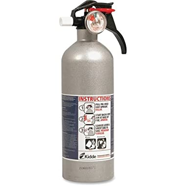 Kidde 21006287N Automobile Extinguisher, UL Rated 5-B:C, Easy to Read Gauge, Easy to Pull Safety Pin
