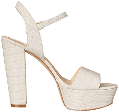 Nine West Nwcarnation, Women's Sandals Off White Croco Texture Leather