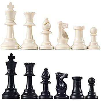 Heavy Tournament Triple Weighted Chess Pieces with 3 3/4 King